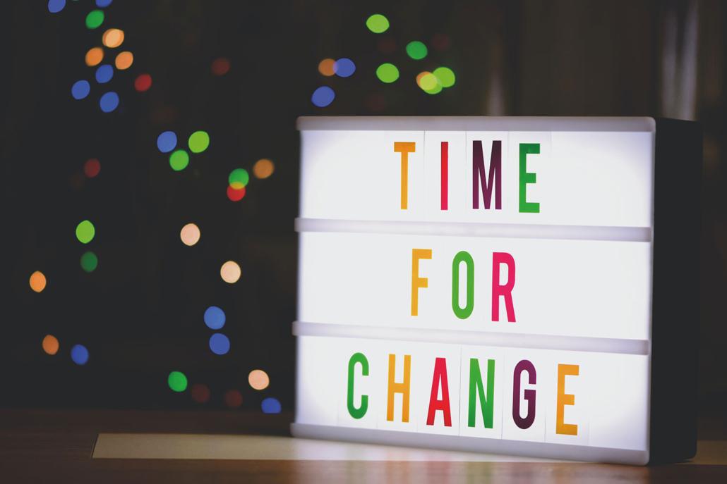 Light Up Banner Mental Health Managing Change